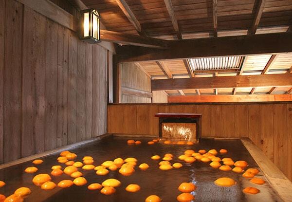 木の香り蜜柑風呂