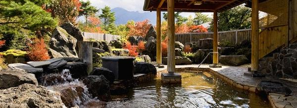 庭園風露天岩風呂