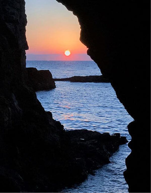 三段壁洞窟 風景
