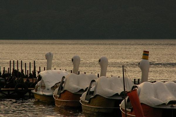 芦ノ湖 足漕ぎボート