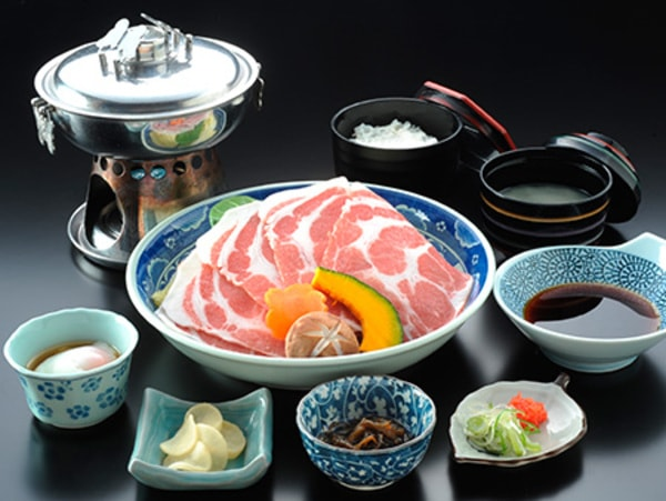 黒豚しゃぶ鍋定食(一例)