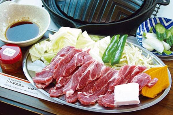 ジンギスカン特上定食(一例)