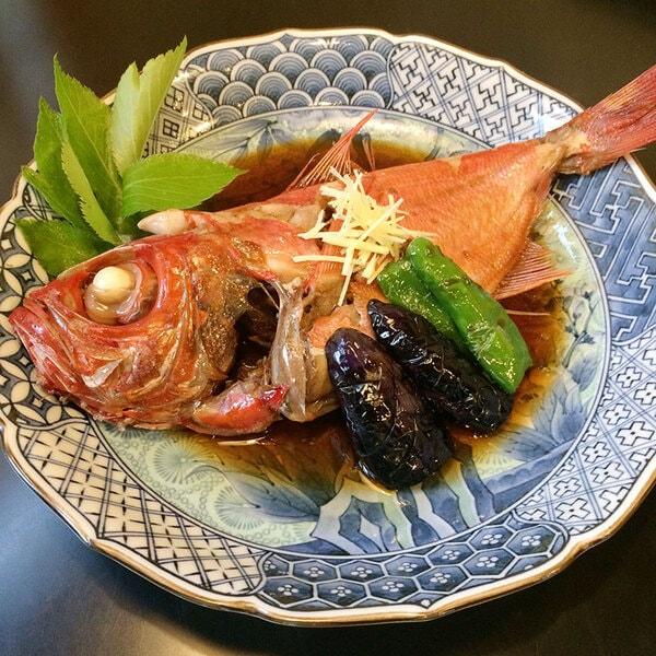 地魚料理磯亭 金目の煮付け(一例)