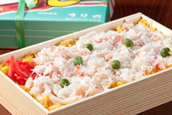 かにちらし寿司折詰(一例)