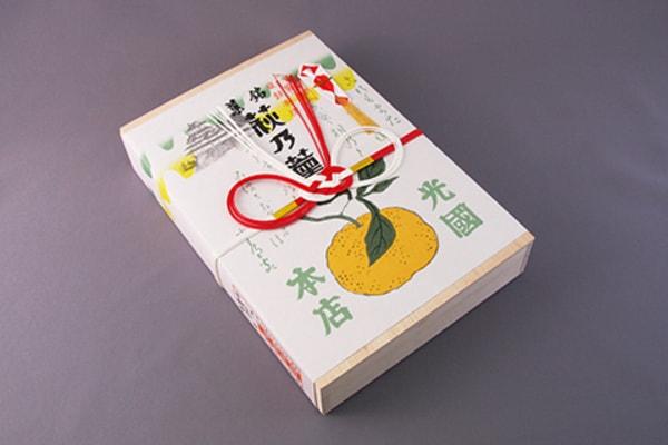 萩乃薫木箱 パッケージ(商品一例)