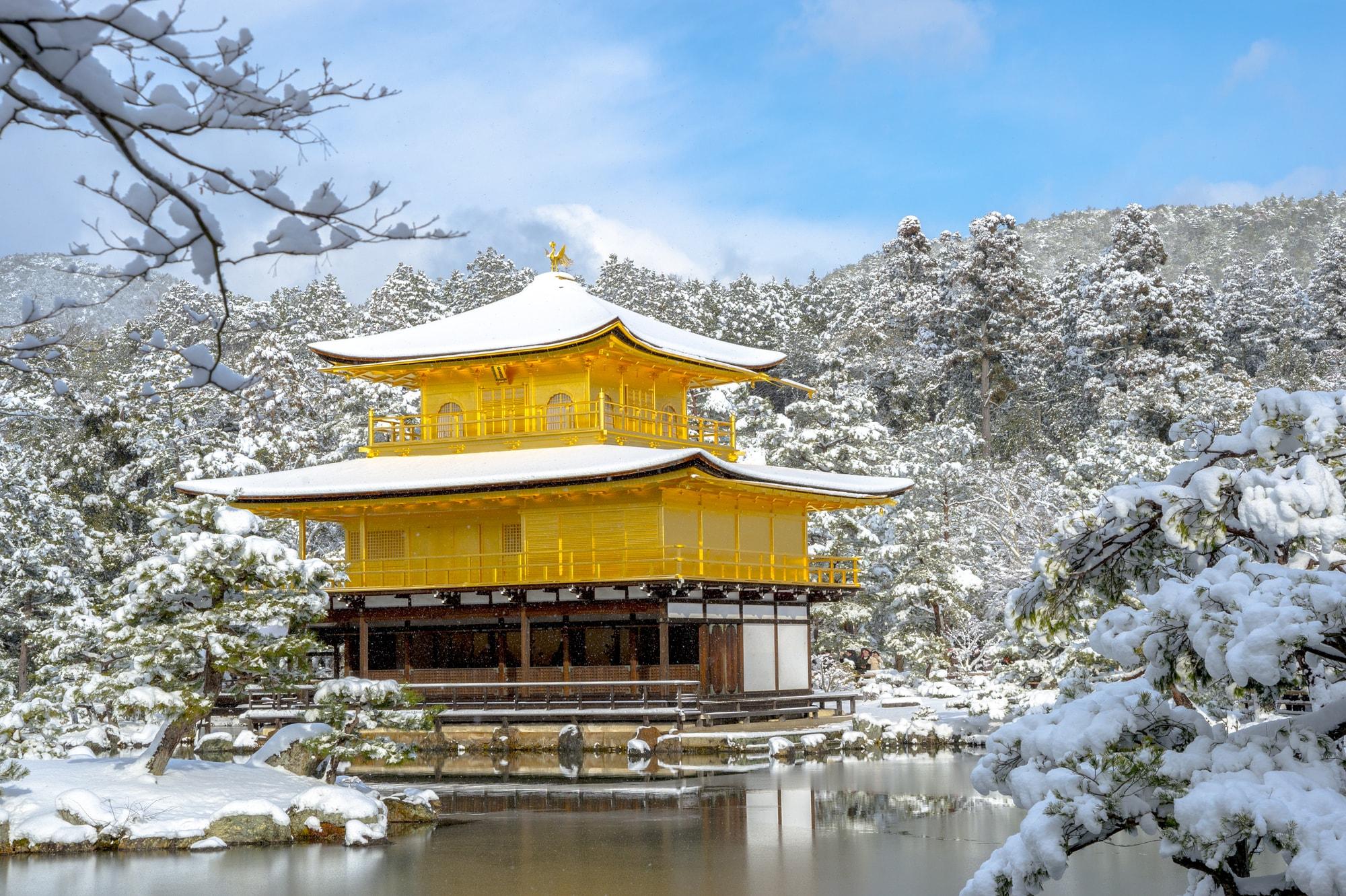 ゆこたびで紹介する冬の金閣寺