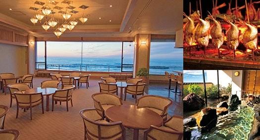 美しい夕日と旬の味わい 竹屋ホテル
