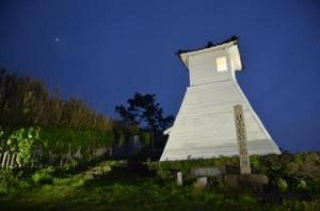 旧福浦灯台ライトアップ(冬季)
