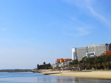 【吉良温泉】海水浴ができるビーチが自慢です