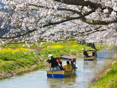 【びわ湖おごと温泉】風情ある水郷めぐりも楽しめる