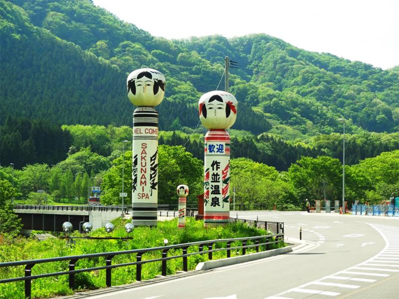 【作並温泉】素朴な伝統こけしが出迎える「仙台の奥座敷」にある温泉地