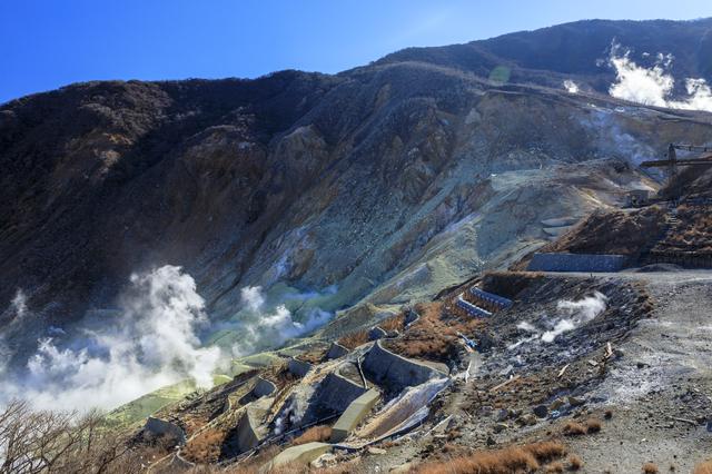 【箱根大涌谷温泉】明治期からの努力の結晶、硫黄の薫る温泉