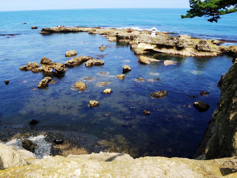 【五浦温泉】断崖に湧き出す源泉と、きらめく太平洋の絶景