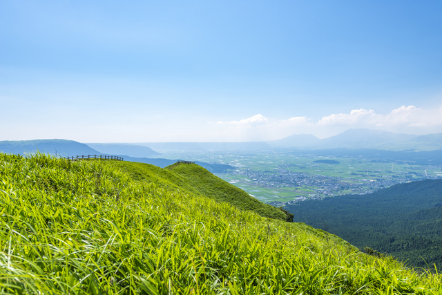 【阿蘇火の山温泉】カルデラ湖から姿を変えた温泉地。雄大な自然が魅力