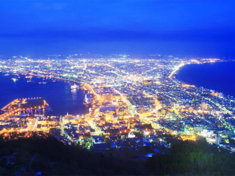 【函館温泉】日本三大夜景「函館の百万ドルの夜景」が一望できる温泉