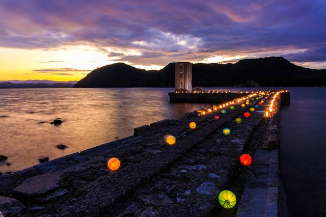 【川棚大崎温泉】大村湾を一望する露天風呂で夕日を眺める