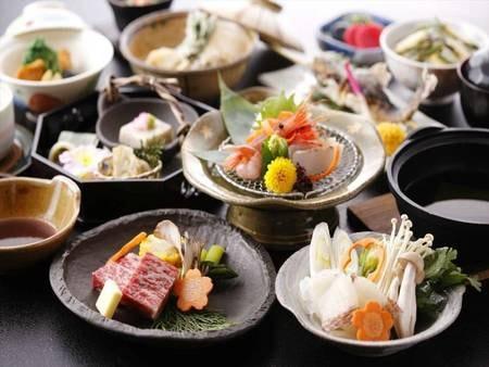 奥飛騨の旬の食材を取り入れた会席料理