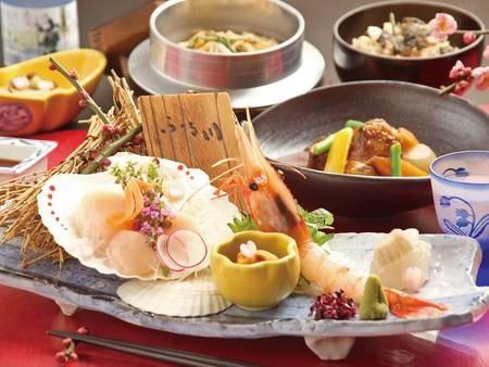 季節の美味会席(ある日の夕食一例)