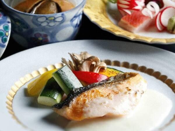 お魚メインの夕食/一例