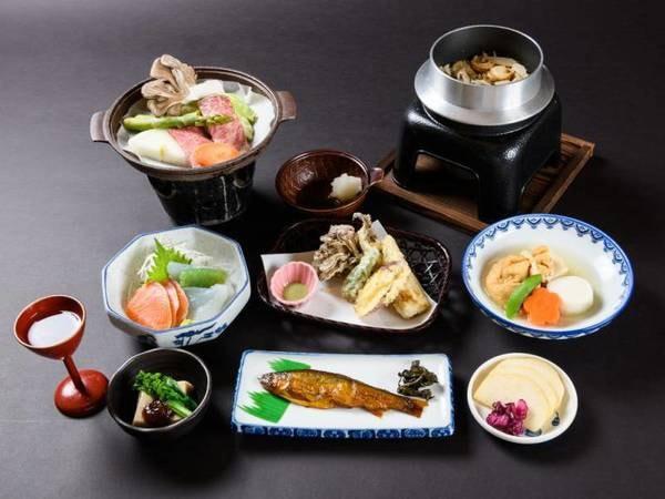 山の幸・川魚を中心としたお料理/一例