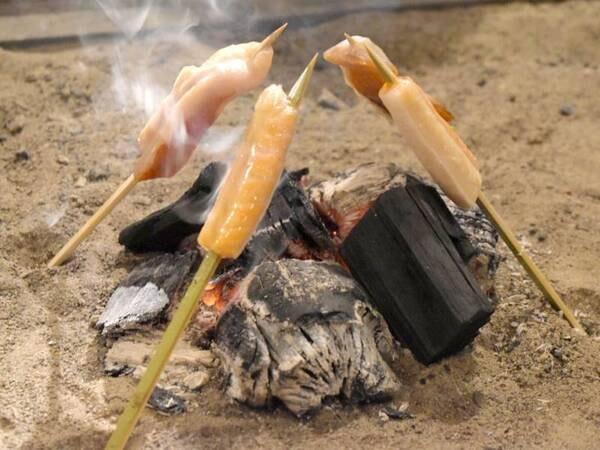 【炉端焼き(金目鯛味噌漬け・サーモン)/一例】