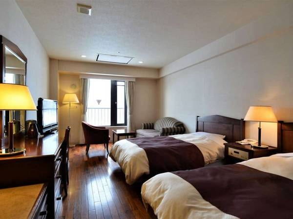 【洋室/例】広さ28平米の洋室ツインルームにご案内(バス・洗浄機能トイレ付)
