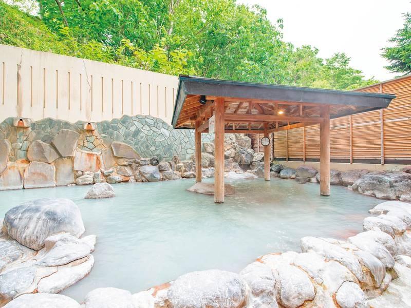 【露天風呂】湯の花浮かぶ名湯「登別温泉」