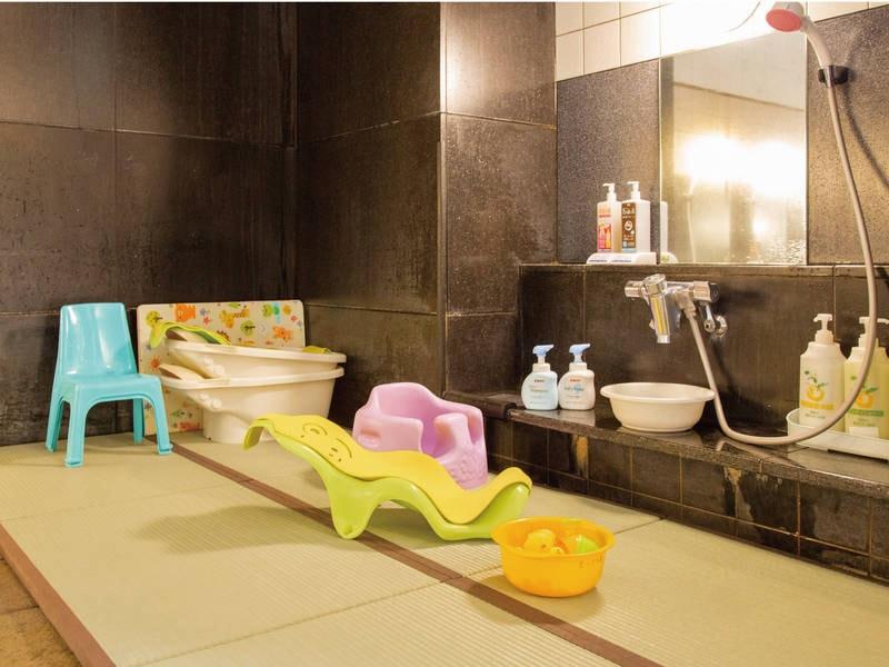 【女性用大浴場】お子様も安心畳スペースや赤ちゃん用アイテムも充実
