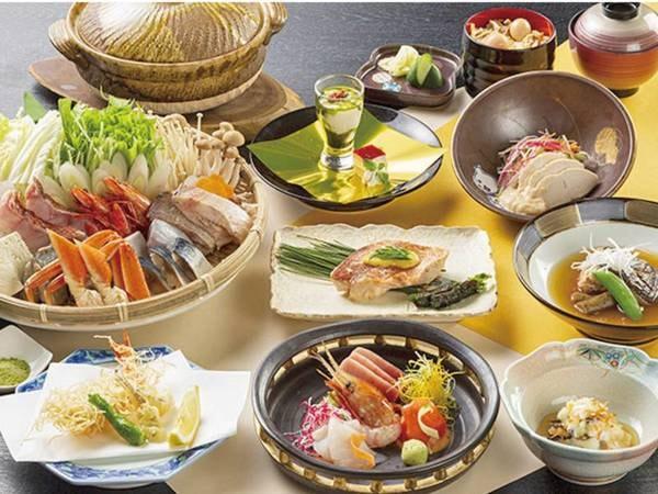 【北海しらかば豪快御膳/例】季節の食材を使った和食膳を食事処「しらかば」にて