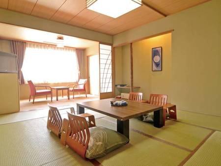【客室/例】広さ8~10畳の和室(バス・洗浄機能トイレ付)にご案内
