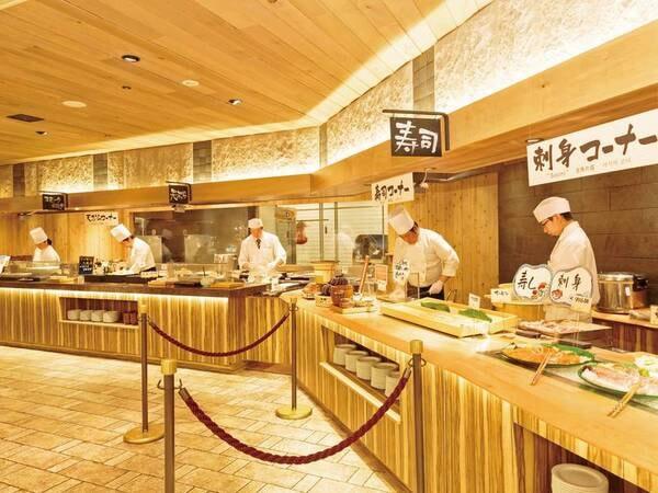 【ライブキッチン】豊富な実演料理で、できたて!おいしい!たのしい!が満載♪