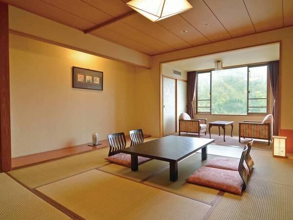 【10畳和室/例】窓際に2畳程の縁側があり、開放感のあるお部屋。ゆったりと流れる時間を満喫