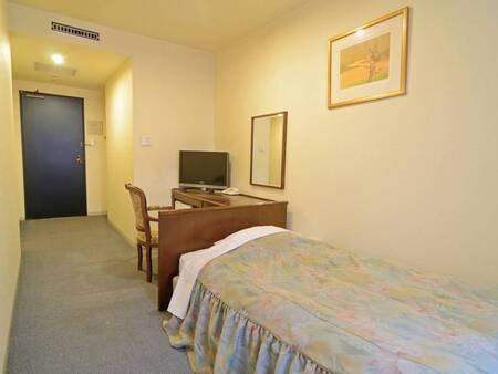 【シングルルーム/例】1名部屋はビジネスでご利用の方にお勧め ※内部屋の為、景観はホテルの内壁