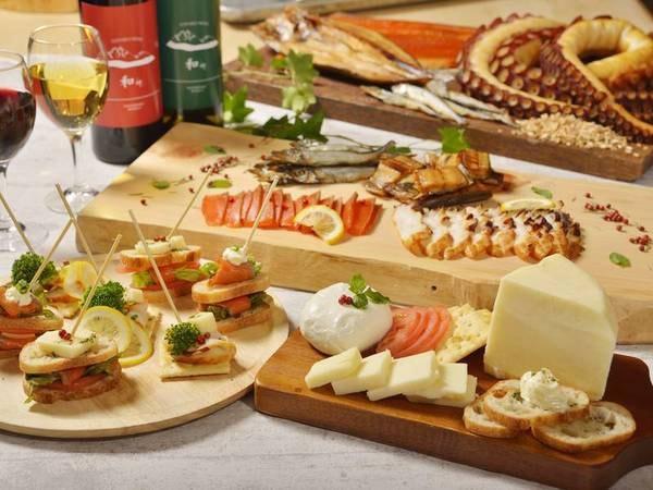 【夕食ビュッフェ/例】レストラン併設「チーズ工房」で作る絶品チーズも食べ放題!