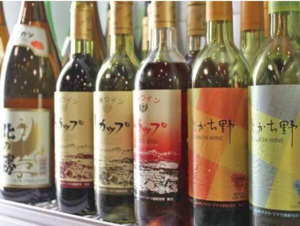 【和洋中ビュッフェ/例】レストランには十勝のワインも豊富に