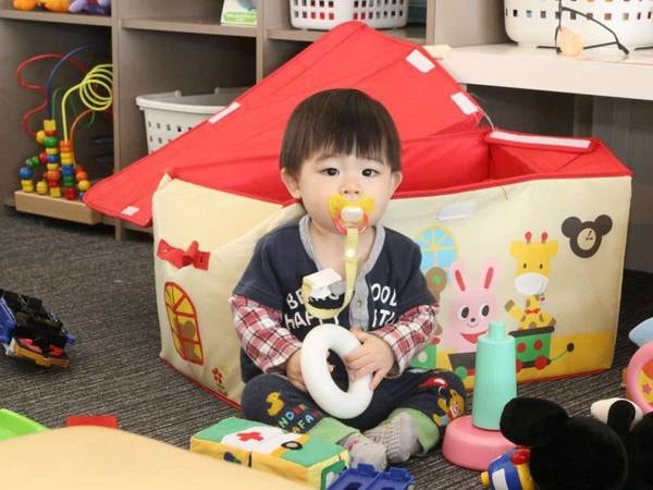 【2階キッズコーナー】お子様が退屈しないようにおもちゃなどをご用意しています