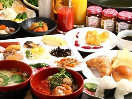 ホテルオリジナルの「なまら飯」や焼きたての出汁巻き玉子などをお楽しみいただけます
