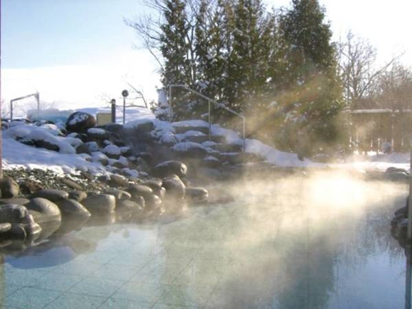 【露天風呂】雪見