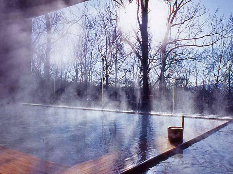 【森の天空露天風呂】冬の朝日を感じて