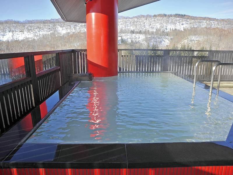 【もう一つの天空露天風呂】冬は温泉で心も身体も温まる