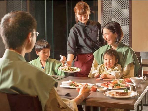 【夕食/例】ご家族でゆっくりとお食事!