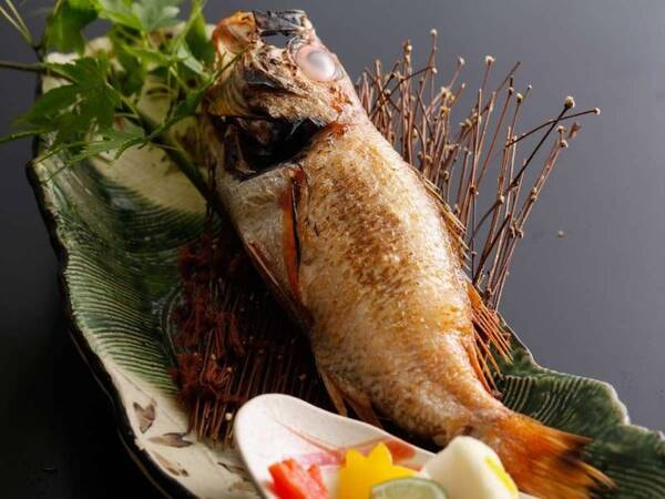 <お料理重視プラン>有名テニスプレイヤーが食べたい!と絶賛した高級魚「のどぐろ」つき会席※写真は一例