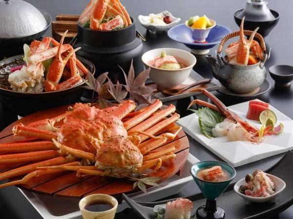 カニを色々なお料理でたっぷり味わえ大好評!蟹プランの料理例