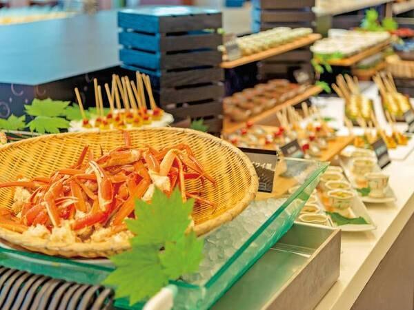 【夕食/例】人気の蟹も食べ放題