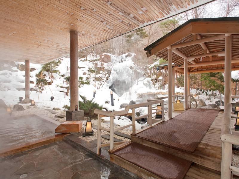 【露天風呂】冬は雪見露天風呂もご堪能