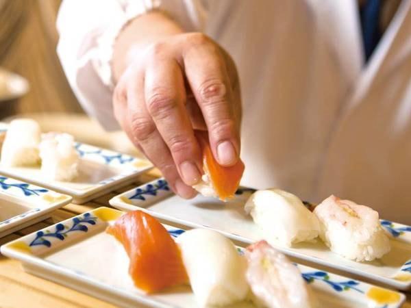 【夕食/例】人気メニュー握り寿司も食べ放題!新鮮な北海道の味覚に舌鼓