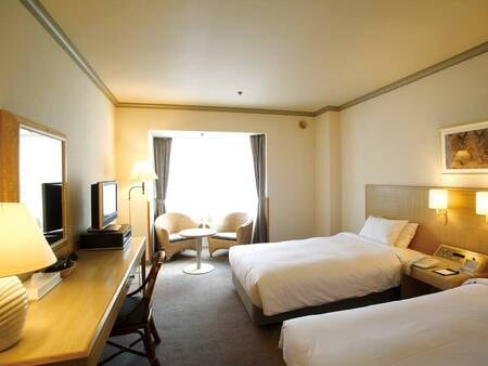 【洋室/例】ベッド派におすすめ!広さ27平米のツインルーム  (消臭対応)