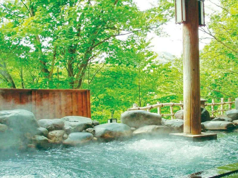 露天風呂/秋の風景