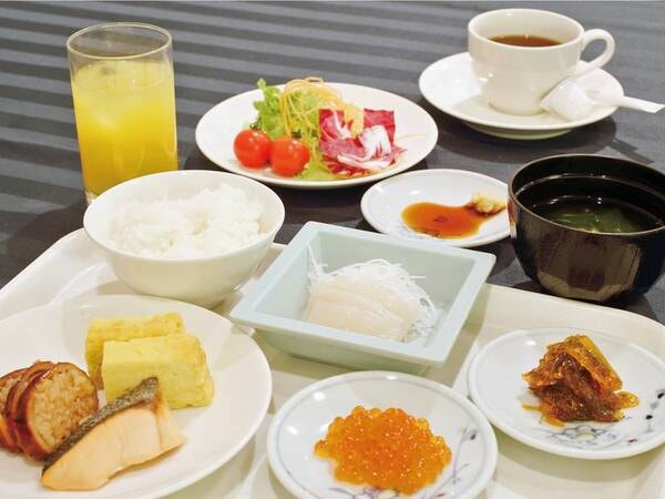 【朝食/例】バイキングの場合の盛り付けイメージ
