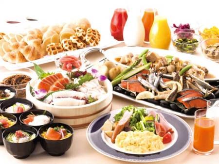 【朝食ビュッフェ/例】和食の品揃えを重視!